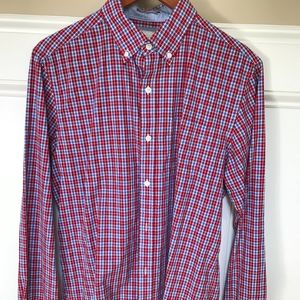 Johnston & Murphy Gingham Button Down Shirt
